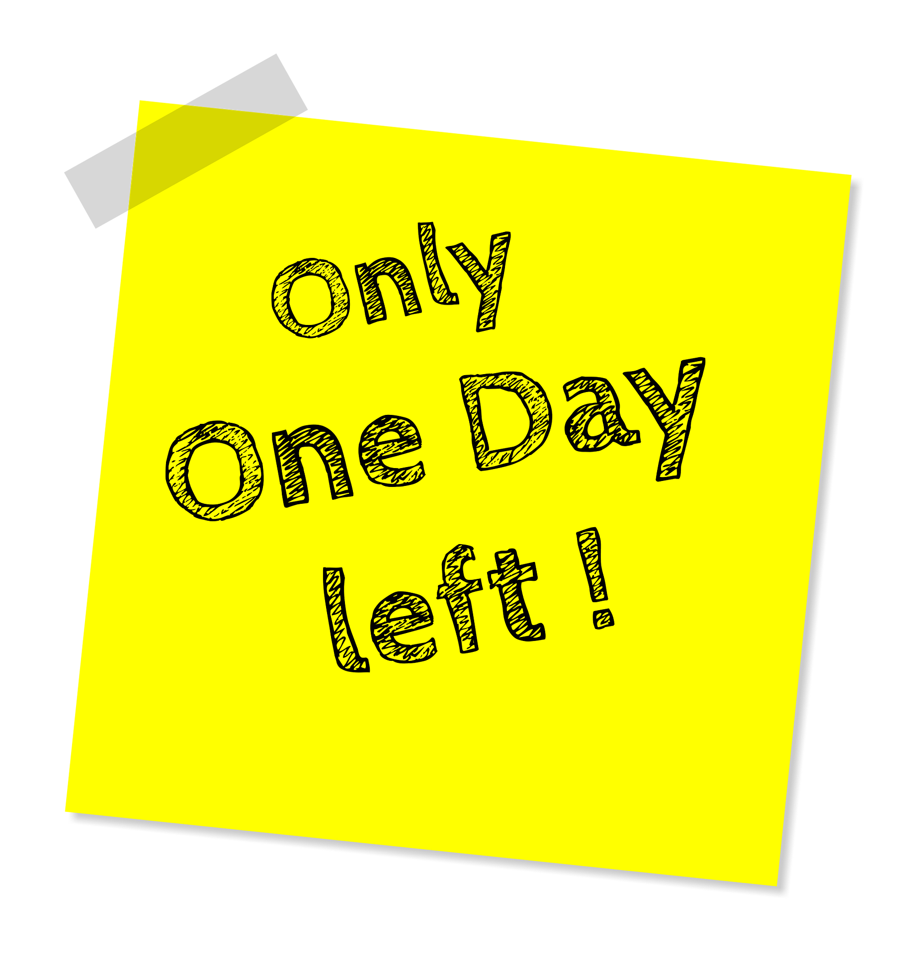 one-day-left-1420997_1920