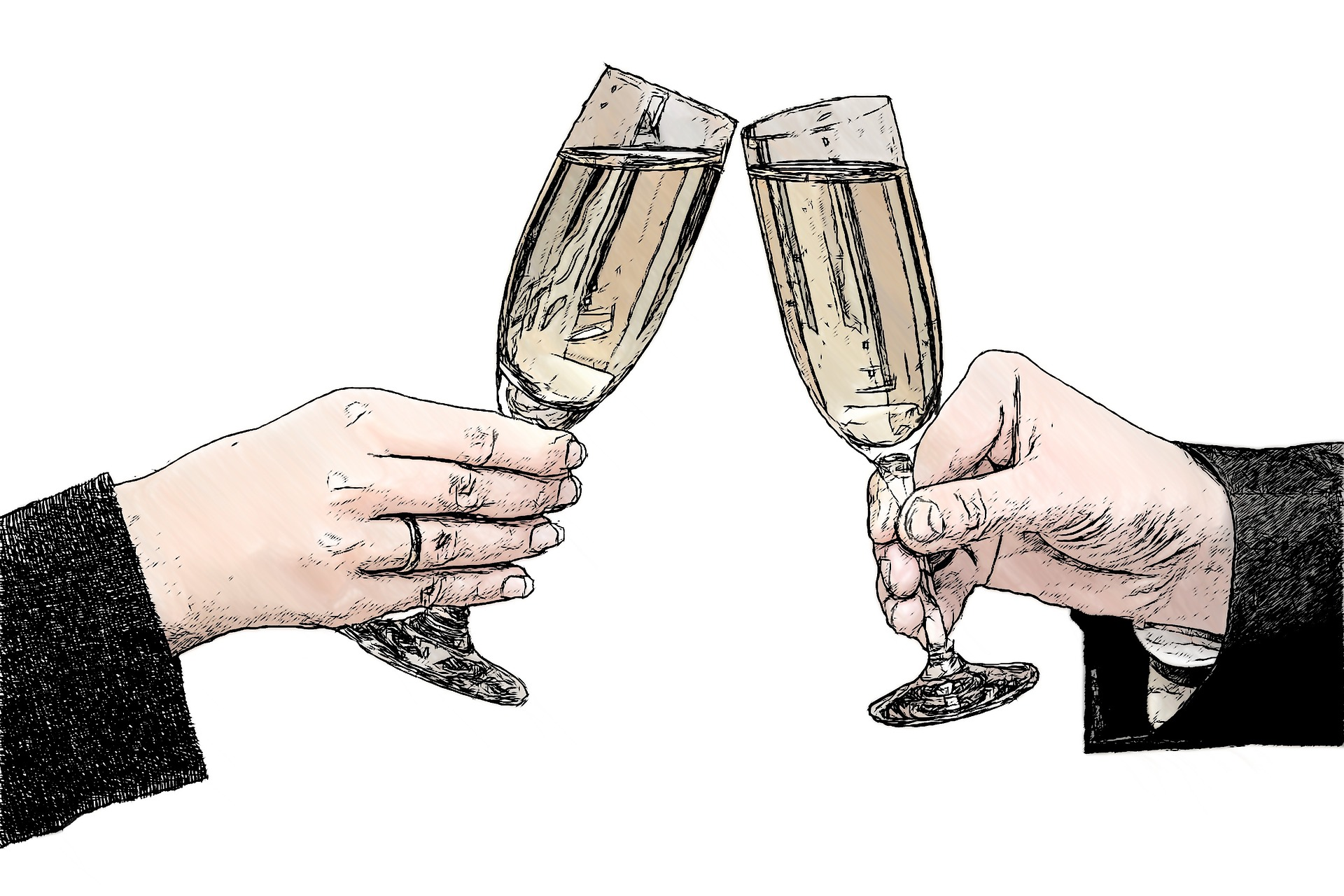 champagne-glasses-821435_1920